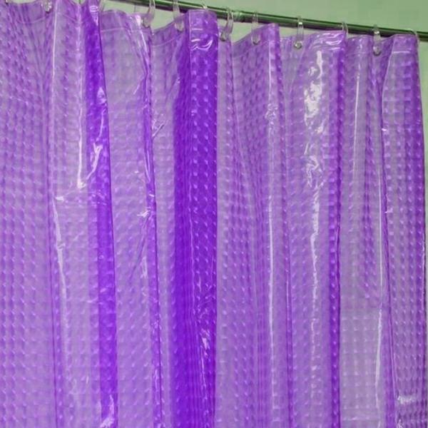 Штора для ванной комнаты «Shower Curtain» с эффектом 3D , ПВХ в комплекте с кольцами, фиолетовый