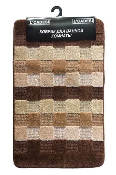 Комплект ковриков из полипропилена на латексной основе, 2шт. 50х80 L'CADESI MARATHON высота ворса 12мм, плотность 1450 г/м2