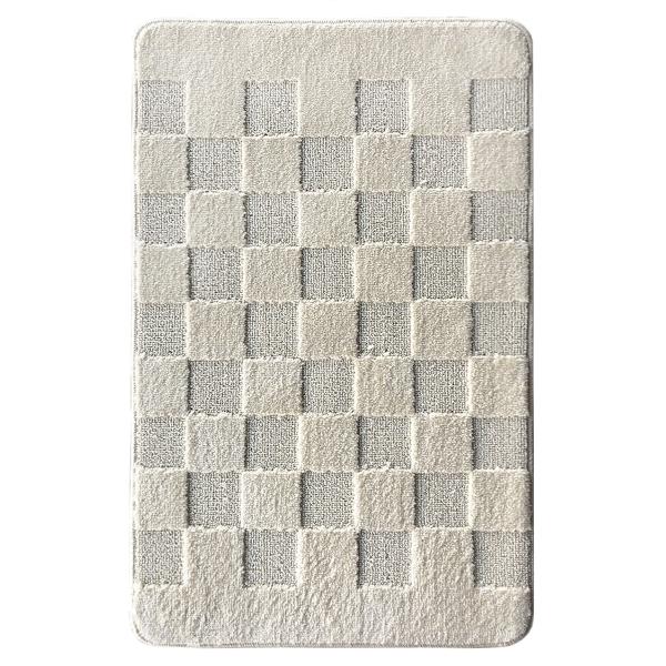Коврик L'CADESI MARATHON из полипропилена на латексной основе, 60x100см, Block to block светло-бежевый