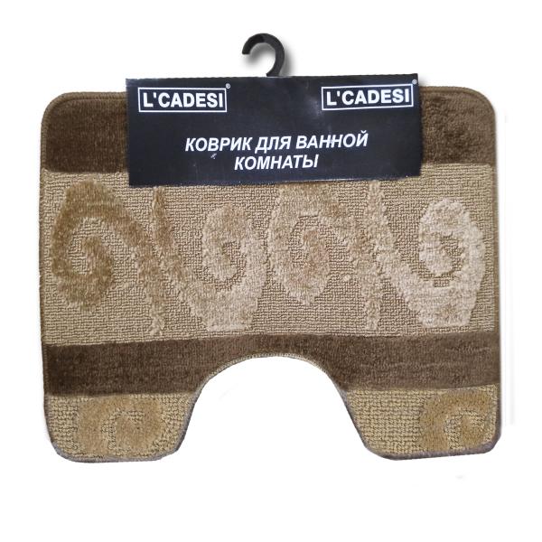Комплект ковриков L'CADESI HURREM из полипропилена на латексной основе, 2 шт. 60x100см и 50x60см, коричневый