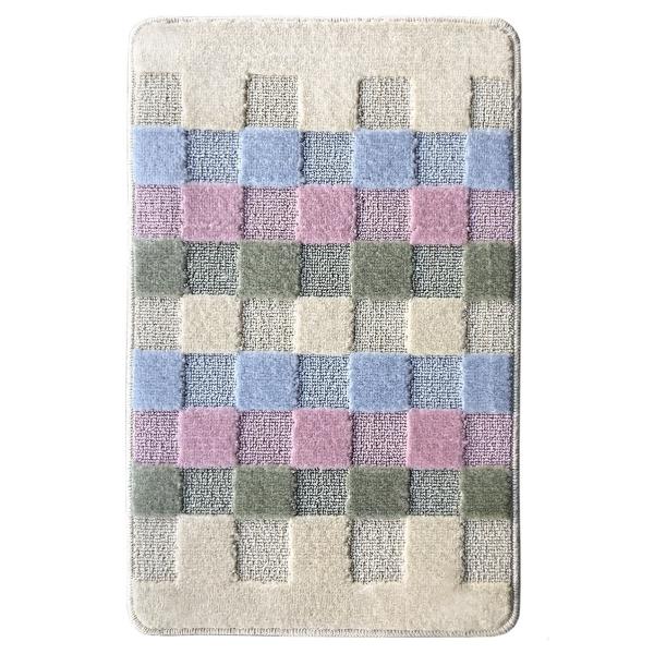 Коврик L'CADESI MARATHON из полипропилена на латексной основе, 60x100см, Block to block розовый